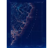 Maine USGS Historical Map York 461043 1893 62500 Inversion Photographic Print