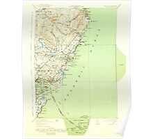 Maine USGS Historical Map York 461045 1920 62500 Poster