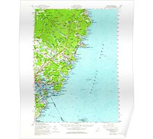 Maine USGS Historical Map York 461047 1956 62500 Poster