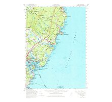 Maine USGS Historical Map York 461048 1956 62500 Photographic Print