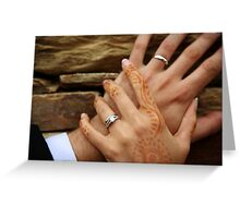 Two Hands Greeting Card