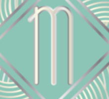 1920s Blue Deco Swing with Monogram letter M Sticker