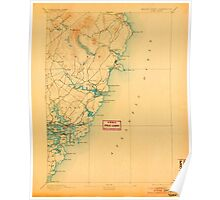 Maine USGS Historical Map York 807746 1893 62500 Poster