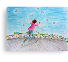 Running girl  Canvas Print