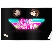 Starbomb with Grump Heads Poster