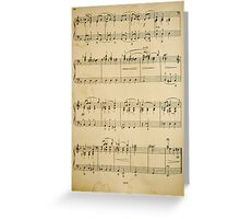 fragment with music  notes Greeting Card