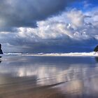 Trebarwith strand Cornwall by David Wilkins