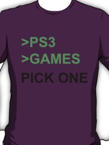PS3 Has No Games T-Shirt