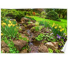The Little Creek in the Garden - Impressions Of Spring Poster