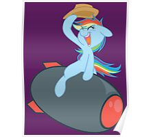 Riding on a Missile with a Cowboy Hat Poster