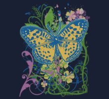 Pretty Butterfly with Artistic Scrollwork by Greenbaby
