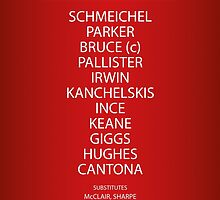 1994 Manchester United FA Cup Final Team by RED DAVID