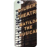 Shubert Theatre, Broadway, NYC- Matilda The Musical - Kodachrome Postcards  iPhone Case/Skin