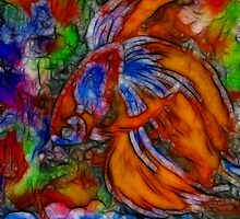 Fish Of Fire  1 0f  2 by bev langby