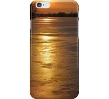 Sunset Over the Ice iPhone Case/Skin