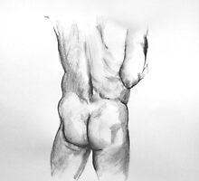 Male Buttocks study by Arzeian