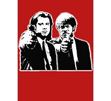 Pulp Fiction Black and White Photographic Print