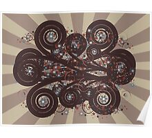 Dark brown ornament Poster