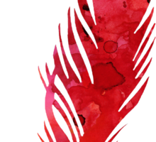 Red abstract feather large poster Sticker