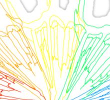 Rainbow Rabbit Skull Sticker