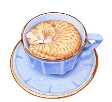 Cat in Coffee by mrana