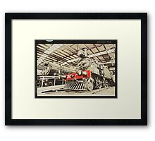 Trains ... retro Framed Print