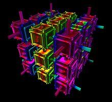Cubenoid space bricks by digitalillusion