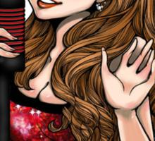 Ariana Grande Red Dress T-Shirt Sticker