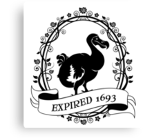 Dodo: Expired 1693 Canvas Print