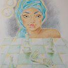 """Illustration 2 - """"Zinaida e la scacchiera di cristallo"""" by Francesca Romana Brogani"""