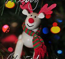 Christmast Deer Card by BluAlien