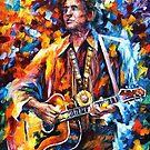 Johnny Cash — Buy Now Link - www.etsy.com/listing/224696813 by Leonid  Afremov