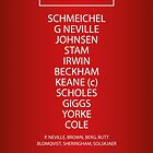 1999 Manchester United Treble Winning Team by RED DAVID