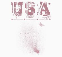USA with Butterfly by fuxart