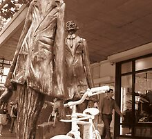 Memorial to Fallen Cyclist by Catherine C.  Turner