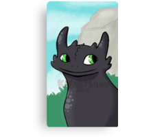 Sweet Toothless Canvas Print