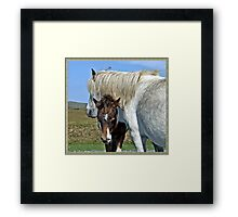 """ I'm staying with my Mum"" Framed Print"