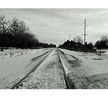 Black Track  Photographic Print