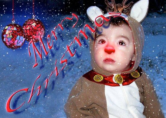 Merry Christmas Rudolph by Elizabeth Burton