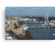 London Eye from on high Canvas Print