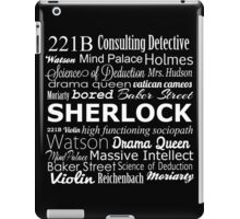 Sherlock in Words iPad Case/Skin