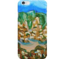 Abstract Landscape Painting, Mountain Cliffs  iPhone Case/Skin
