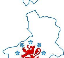 Flag Map of German-speaking Community of Belgium by abbeyz71