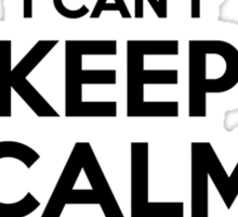 I cant keep calm Im a YEARTY Sticker