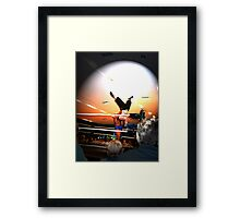 Wrestle Show Framed Print