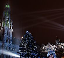 Holiday Lights in Grand Place, Brussels by Alison Cornford-Matheson