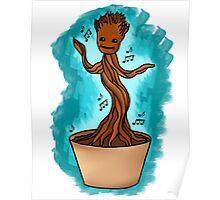 Dancing Baby Groot Poster