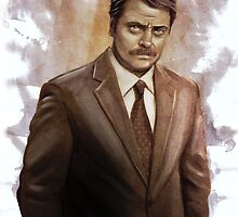 I Was Born Ready; I'm Ron F#cking Swanson by rabbittree
