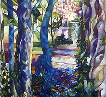blue garden by elisabetta trevisan