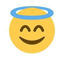 Smiling Face With Halo Twitter Emoji by emoji